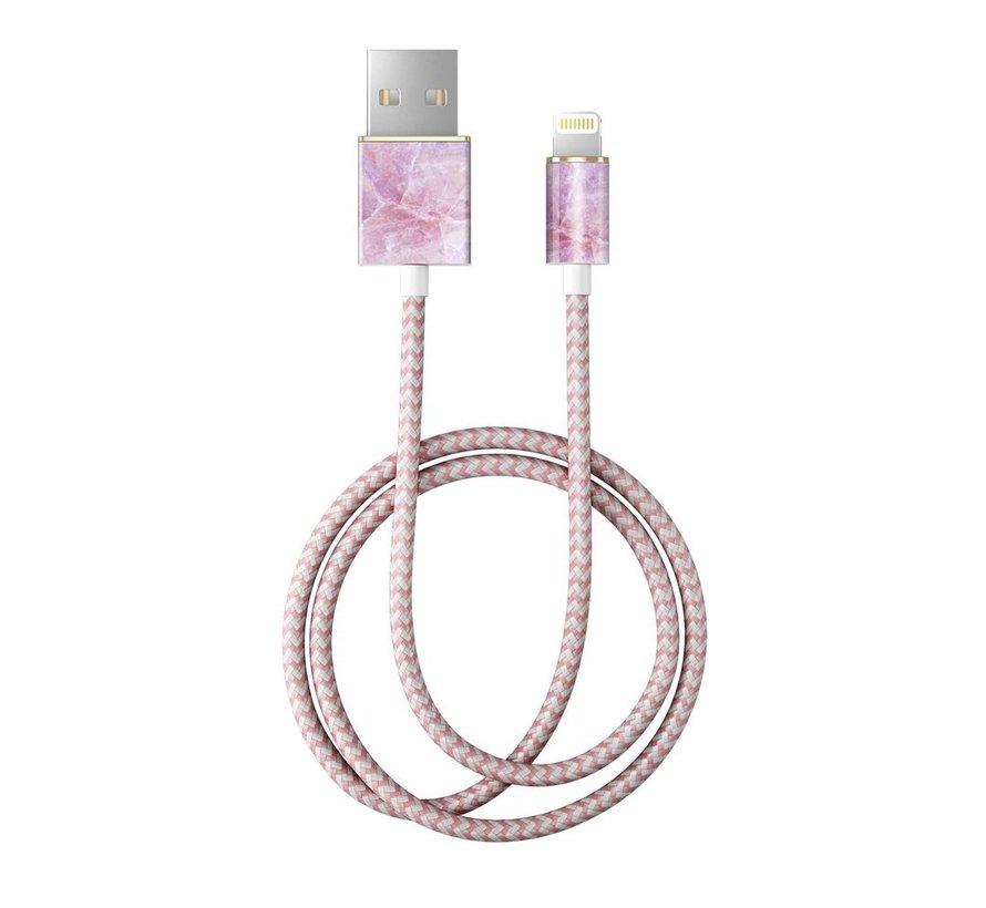 iDeal Lightning MFI Oplaadkabel Pilion Pink Marble 1 Meter
