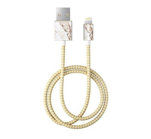 iDeal of Sweden iDeal Lightning MFI Oplaadkabel Carrara Gold 1 Meter