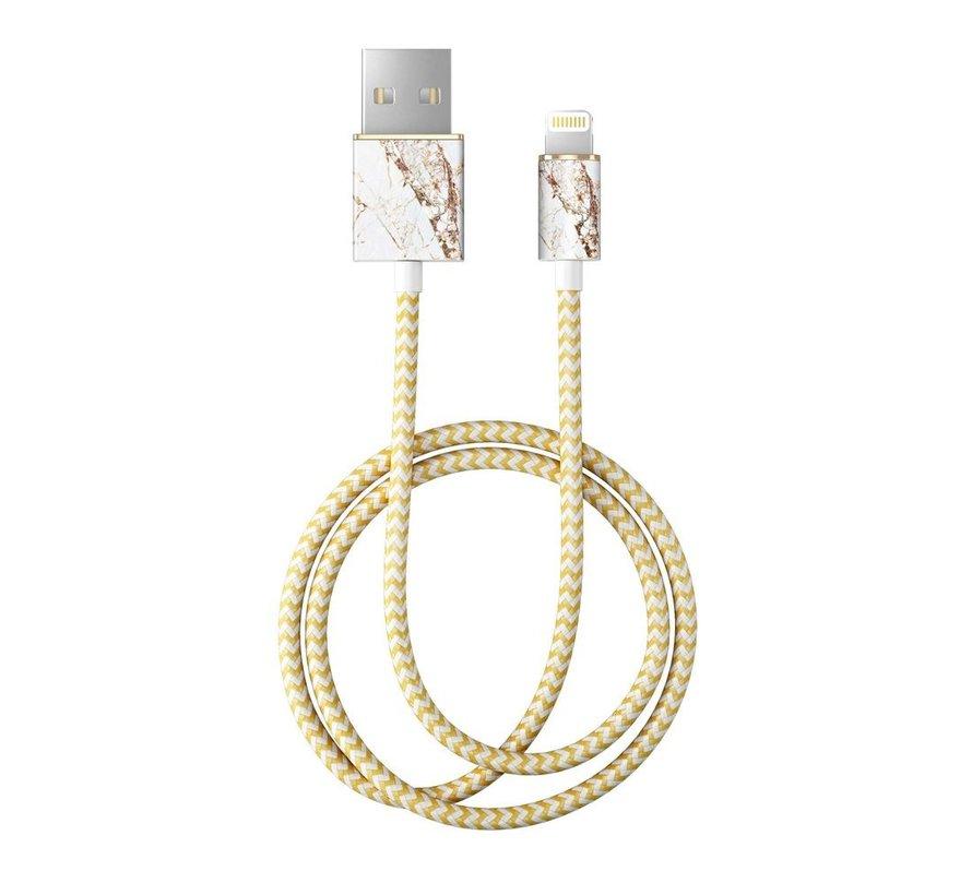 iDeal Lightning MFI Oplaadkabel Carrara Gold 1 Meter