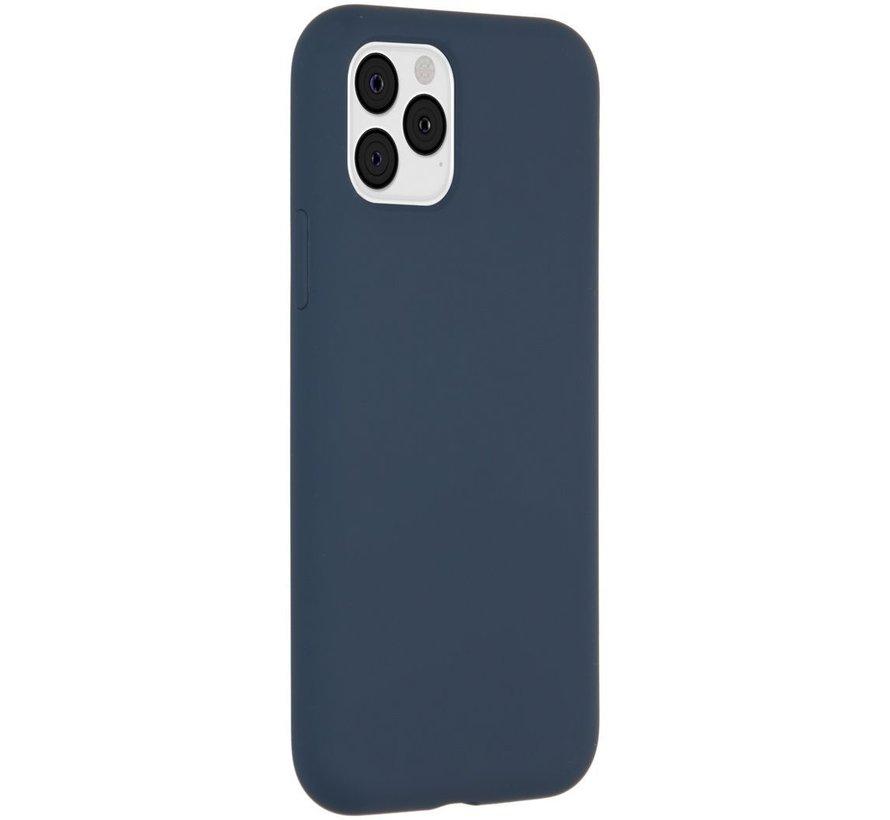 Accezz Liquid Siliconen Case iPhone 11 Pro Blauw