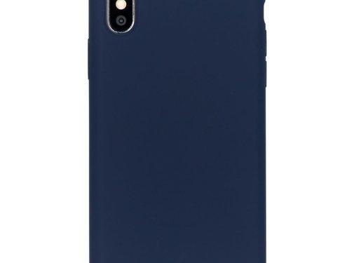 Accezz Accezz Liquid Siliconen Case iPhone XS/S Blauw