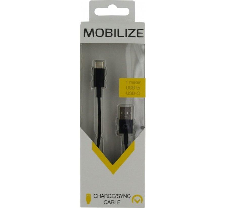 Mobilize Charge/Sync USB-C Kabel 1 Meter Zwart