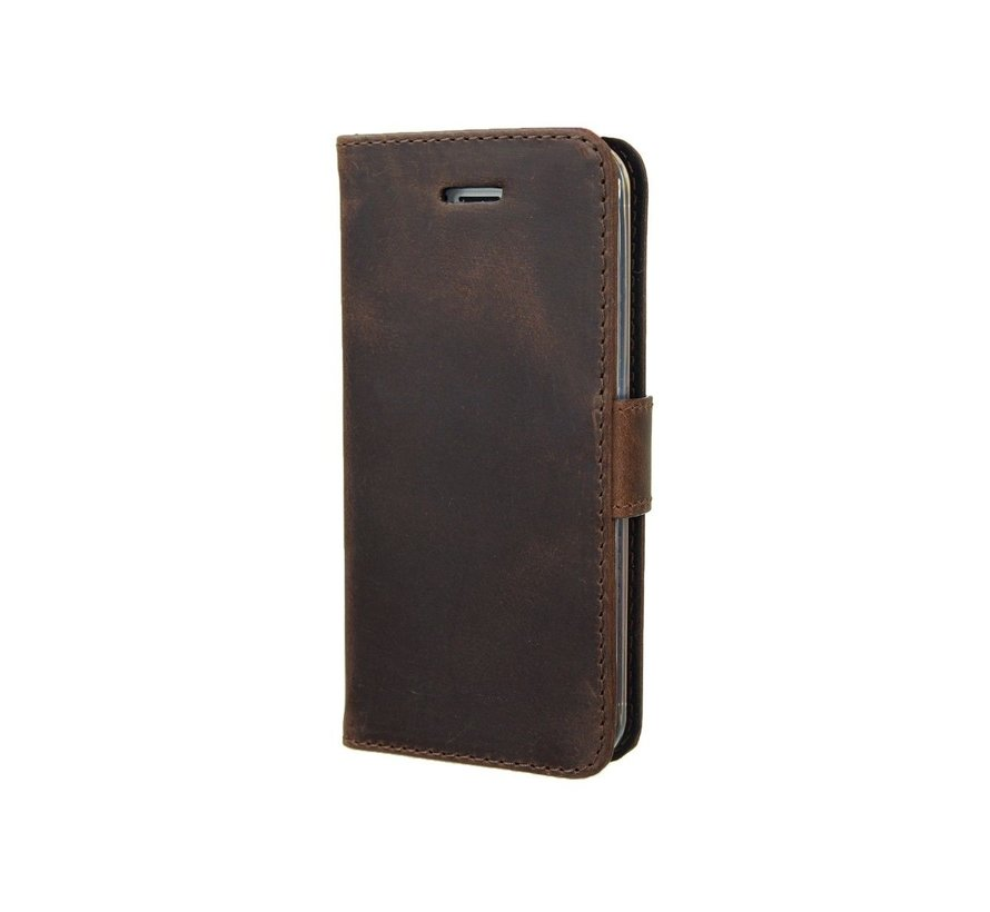 Valenta Booklet Classic Luxe Vintage iPhone SE/5s Bruin