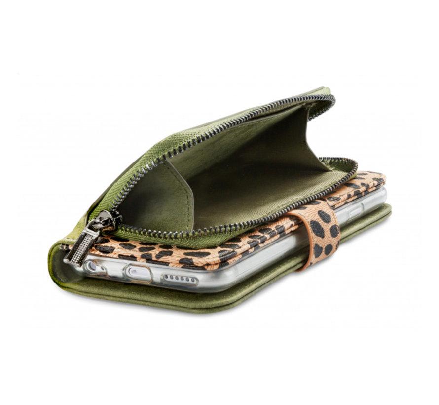Mobilize 2in1 Gelly Wallet Zipper Case iPhone 11 Groen/Luipaard
