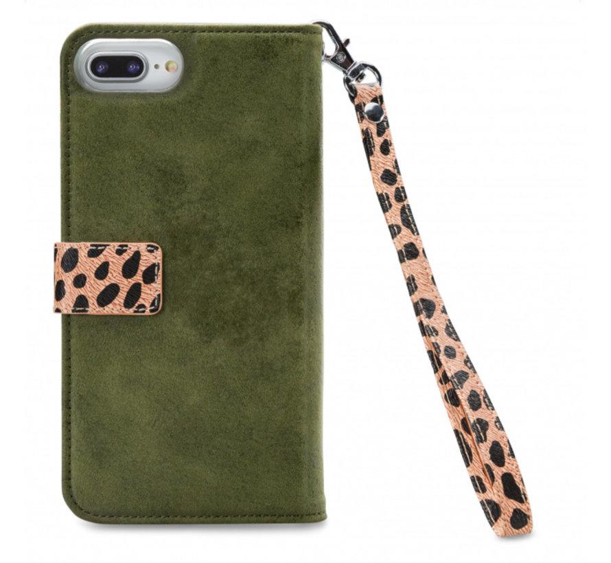 Mobilize 2in1 Gelly Wallet Zipper Case iPhone 8/7/6/6s Plus Groen/Luipaard