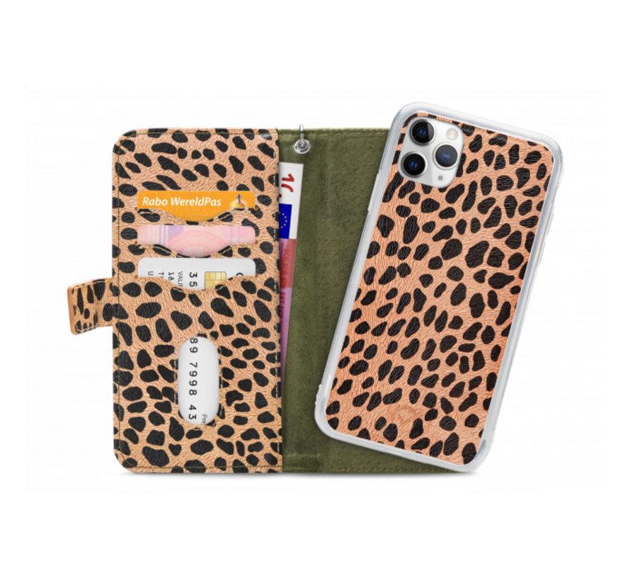 Mobilize 2in1 Gelly Wallet Zipper Case iPhone 11 Pro Groen/Luipaard