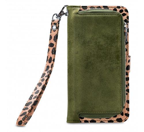 Mobilize Mobilize 2in1 Gelly Wallet Zipper Case iPhone Xs Max Groen/Luipaard