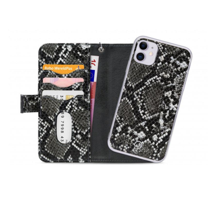 Mobilize 2in1 Gelly Wallet Zipper Case iPhone 11 Zwart/Snake