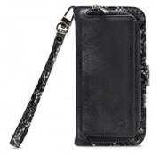 Mobilize Mobilize 2in1 Gelly Wallet Zipper Case iPhone 11 Zwart/Snake