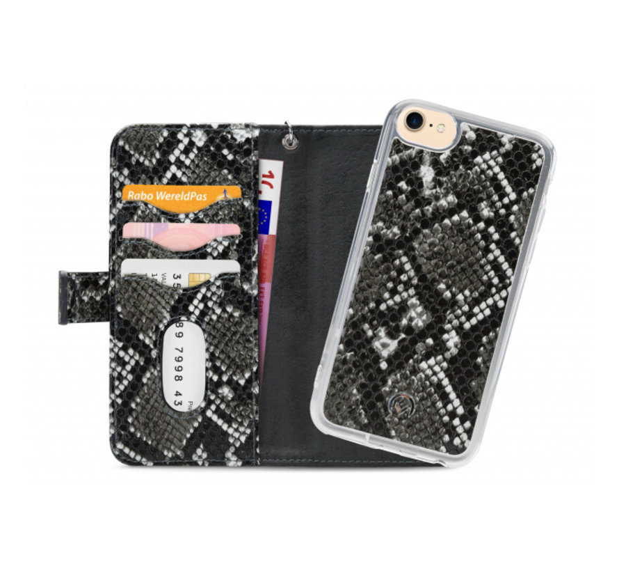 Mobilize 2in1 Gelly Wallet Zipper Case iPhone 8/7/6/6s Zwart/Snake