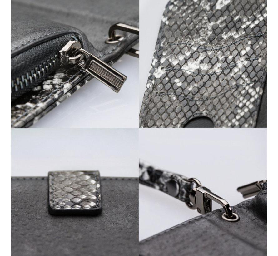 Mobilize 2in1 Gelly Wallet Zipper Case iPhone 11 Pro Zwart/Snake