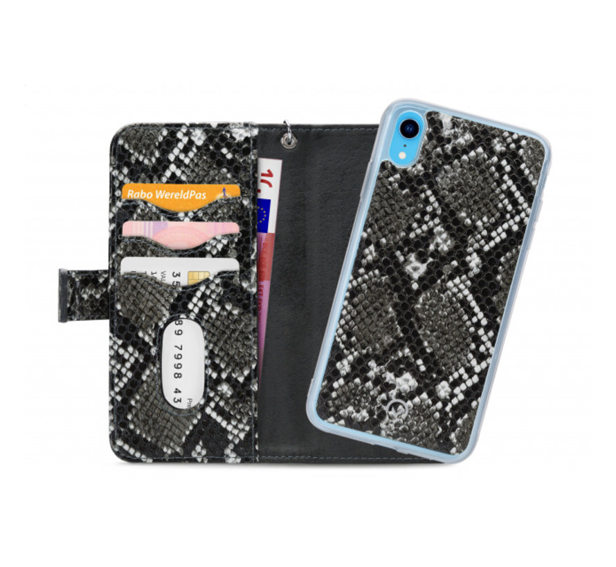 Mobilize 2in1 Gelly Wallet Zipper Case iPhone XR Zwart/Snake