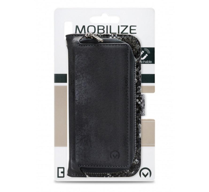 Mobilize 2in1 Gelly Wallet Zipper Case iPhone 11 Pro Max Zwart/Snake