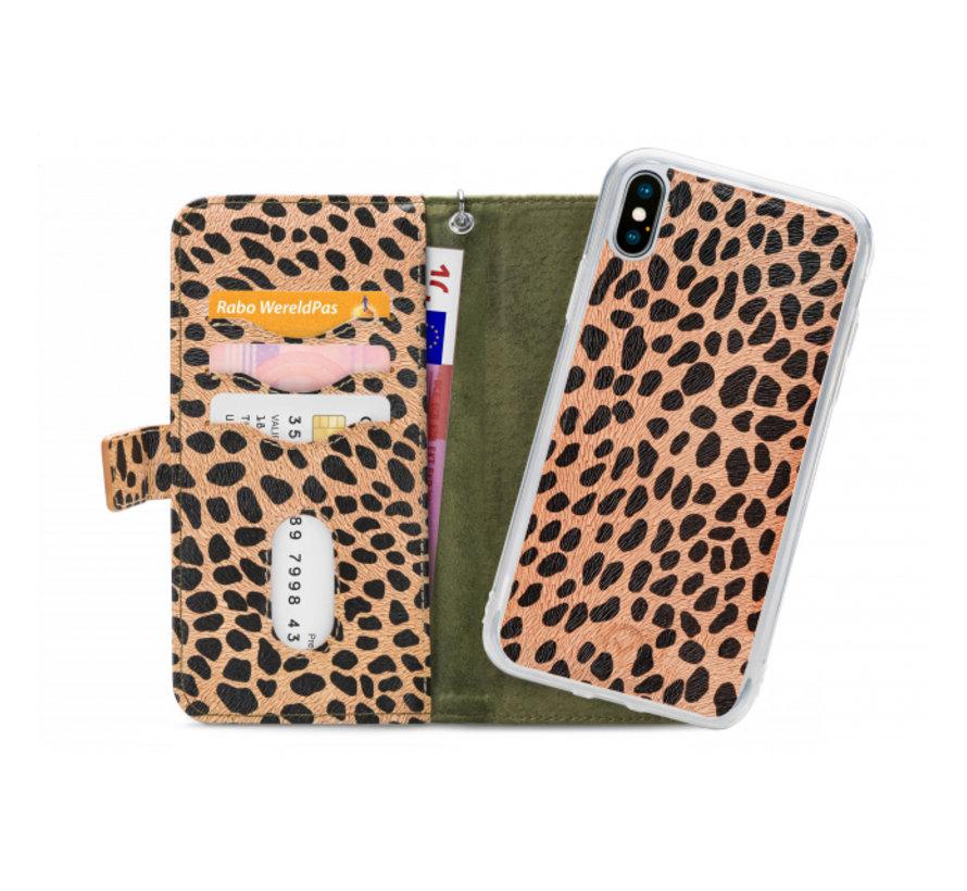 Mobilize 2in1 Gelly Wallet Zipper Case iPhone X/Xs Groen/Luipaard