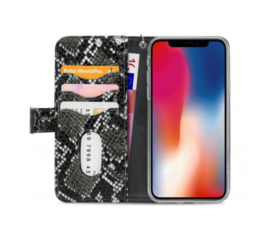 Mobilize 2in1 Gelly Wallet Zipper Case iPhone X/Xs Zwart/Snake