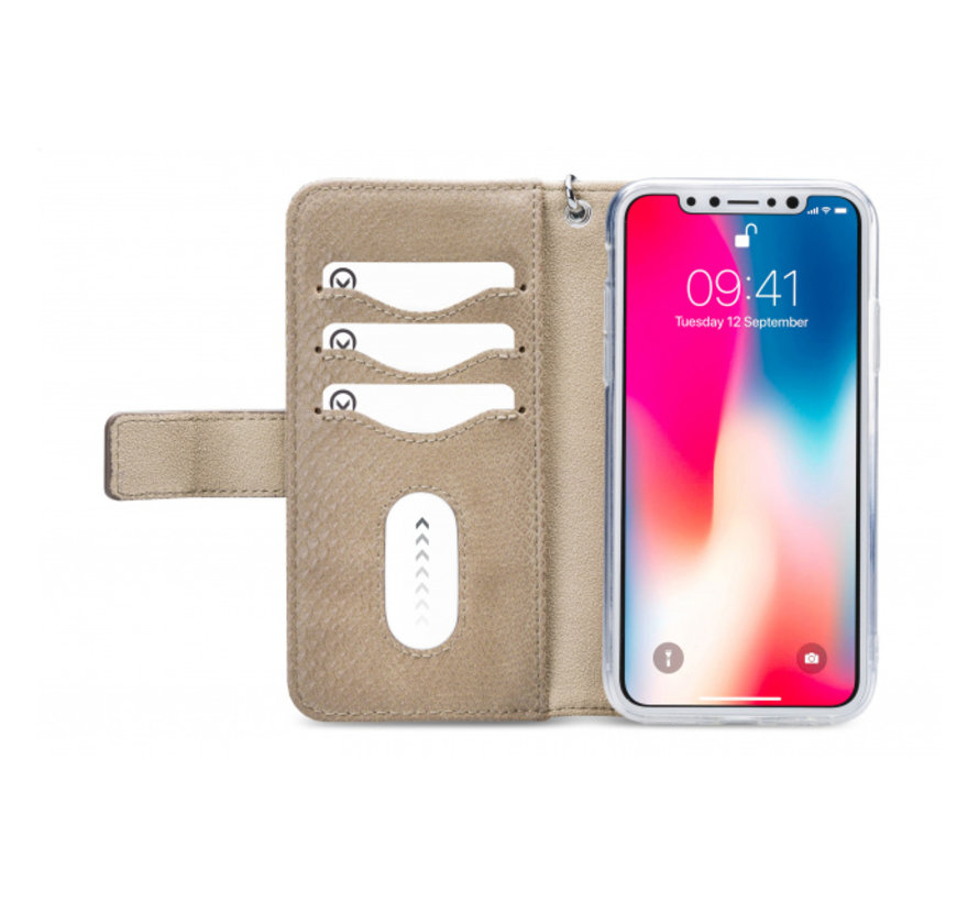 Mobilize 2in1 Gelly Wallet Zipper Case iPhone X/Xs Latte