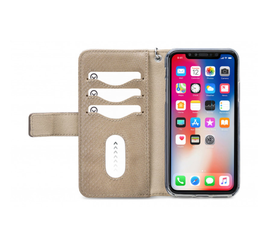 Mobilize 2in1 Gelly Wallet Zipper Case iPhone Xs Max Latte