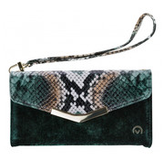 Mobilize Mobilize Velvet Clutch Green Snake iPhone 11