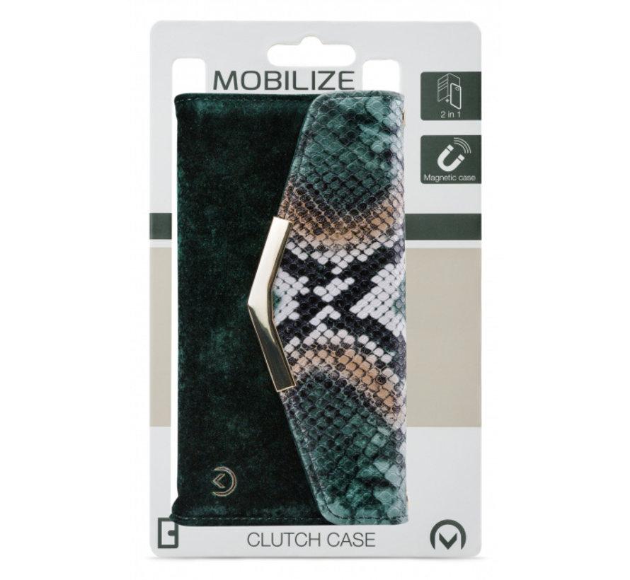 Mobilize Velvet Clutch Green Snake iPhone Xr