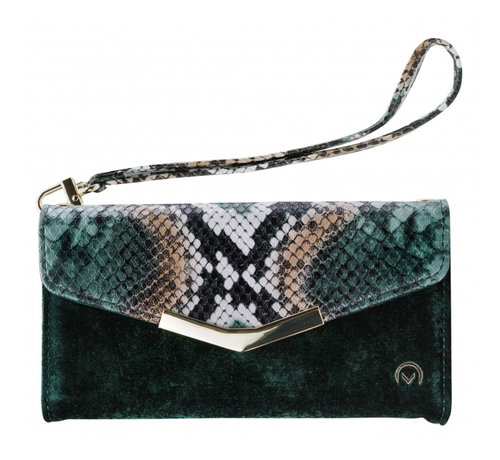 Mobilize Mobilize Velvet Clutch Green Snake iPhone X/Xs