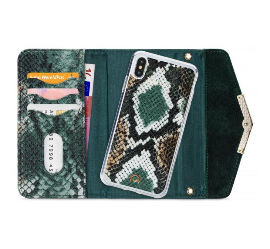 Mobilize Velvet Clutch Green Snake iPhone X/Xs