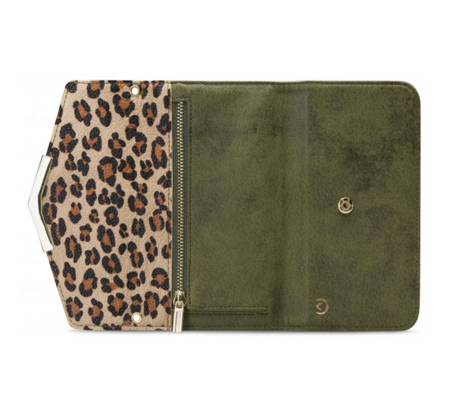 Mobilize Clutch Green Leopard iPhone 8/7/6/6s