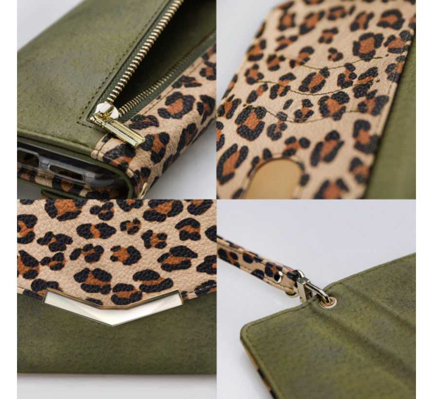 Mobilize Clutch Green Leopard iPhone X/Xs