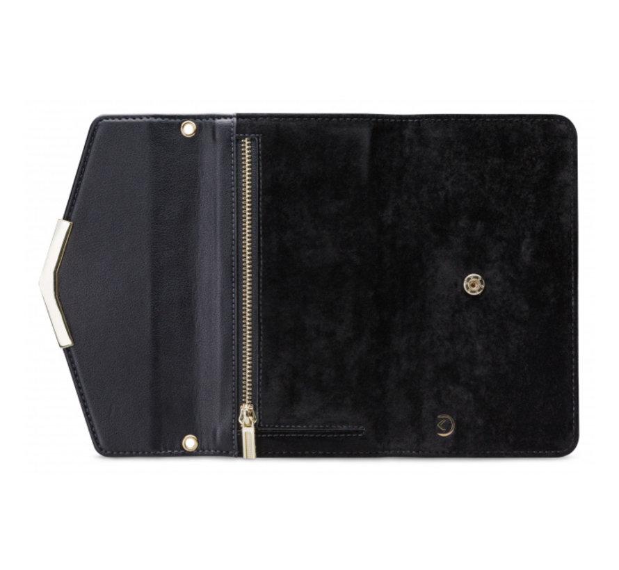 Mobilize Velvet Clutch Deep Black iPhone XR