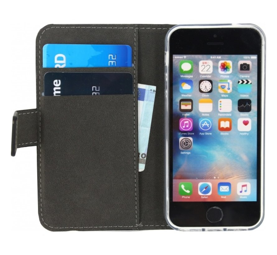 Mobilize Wallet Gelly iPhone SE/5s/5 Zwart