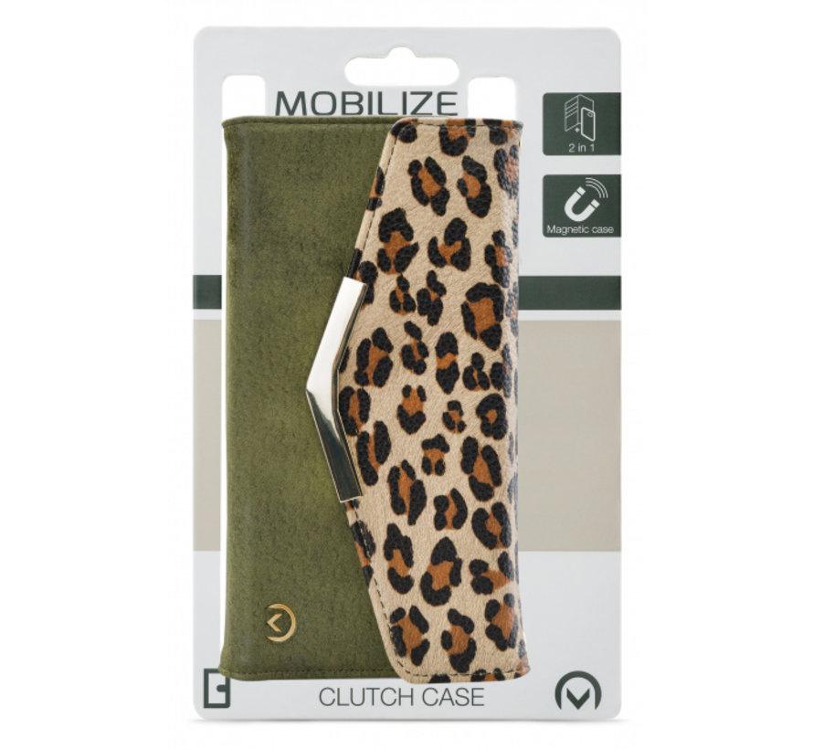 Mobilize Clutch Green Leopard iPhone SE
