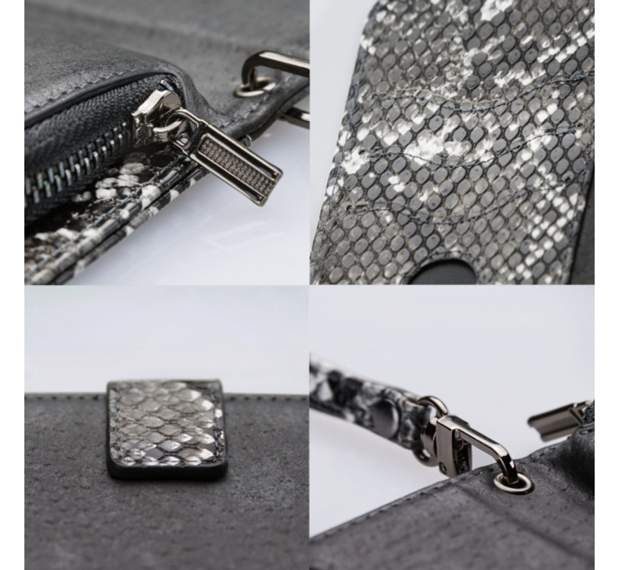 Mobilize 2in1 Gelly Wallet Zipper Case iPhone SE 2020 Zwart/Snake
