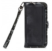 Mobilize Mobilize 2in1 Gelly Wallet Zipper Case iPhone SE Zwart/Snake