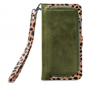 Mobilize Mobilize 2in1 Gelly Wallet Zipper Case iPhone SE Groen/Luipaard