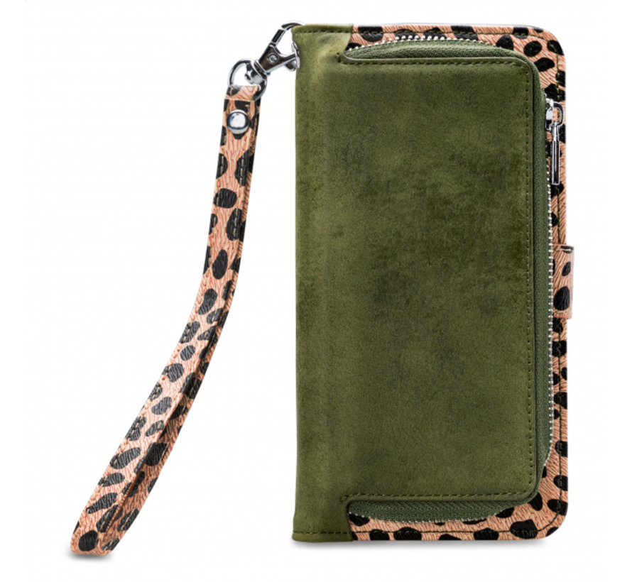 Mobilize 2in1 Gelly Wallet Zipper Case iPhone SE 2020 Groen/Luipaard