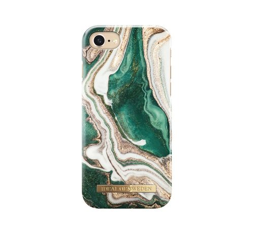 iDeal of Sweden iDeal Fashion Hardcase Golden Jade Marble iPhone SE 2020