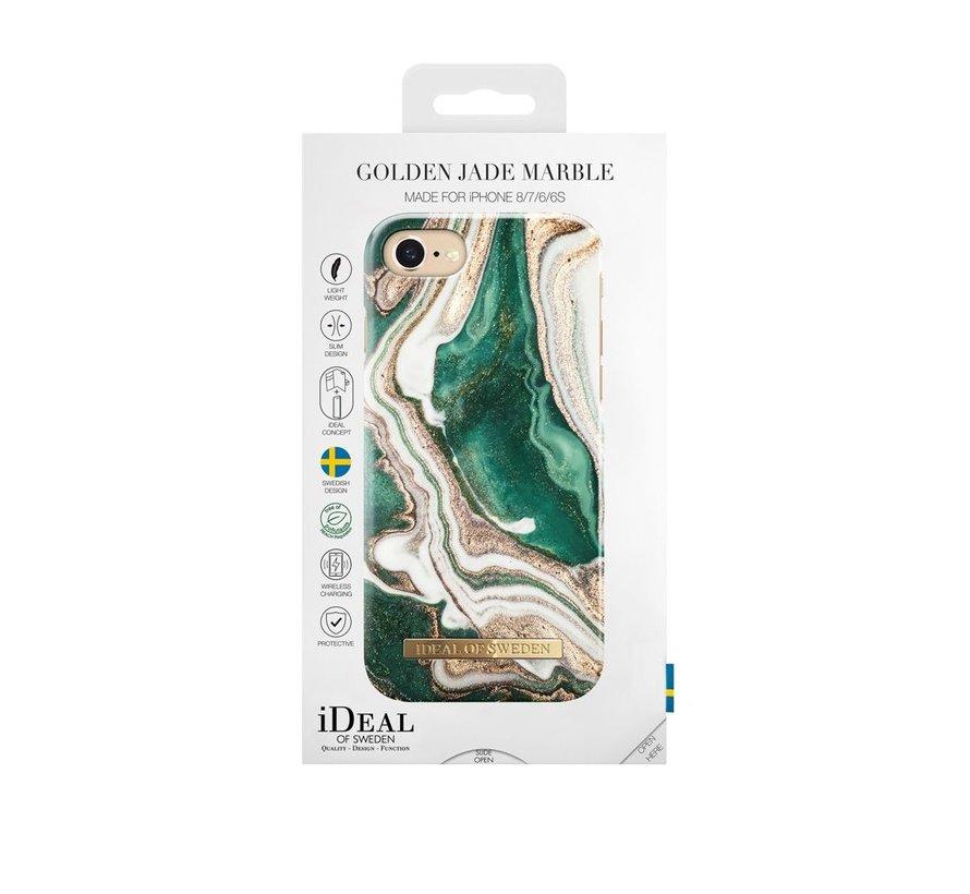 iDeal Fashion Hardcase Golden Jade Marble iPhone SE 2020