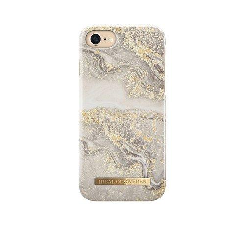 iDeal of Sweden iDeal Fashion Hardcase Sparkle Greige Marble iPhone SE