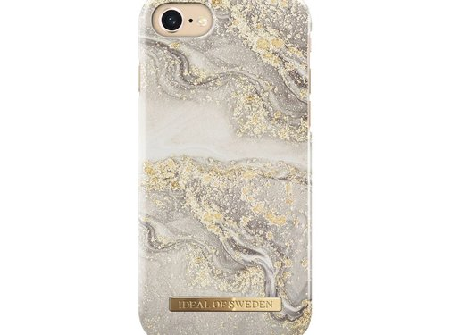 iDeal of Sweden iDeal Fashion Hardcase Sparkle Greige Marble iPhone SE