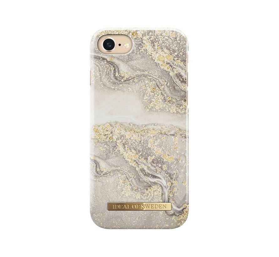 iDeal Fashion Hardcase Sparkle Greige Marble iPhone SE