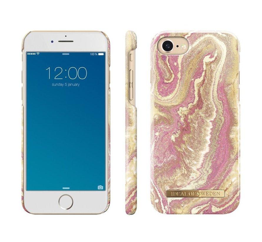 iDeal Fashion Hardcase Golden Blush Marble iPhone SE