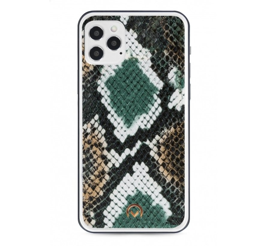Mobilize Velvet Clutch Green Snake iPhone 12/12 Pro