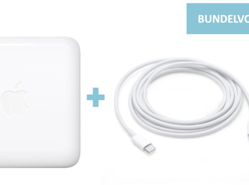 Apple 61W USB-C Power Adapter + Apple USB-C Oplaadkabel 2M