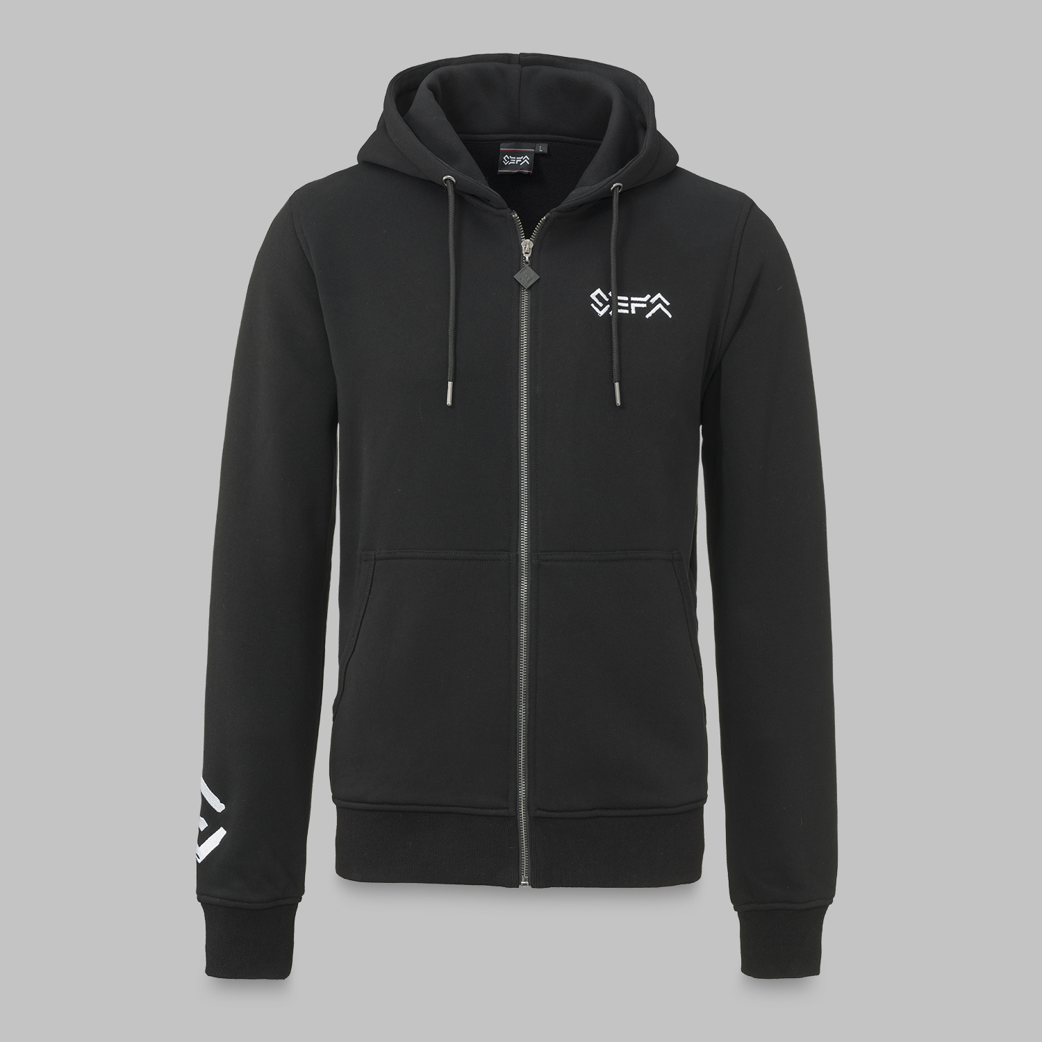 Sefa hooded zip black/white-2