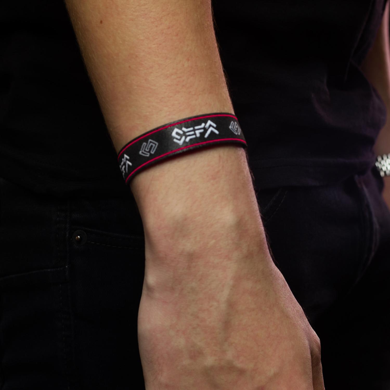 Sefa woven bracelet black-1