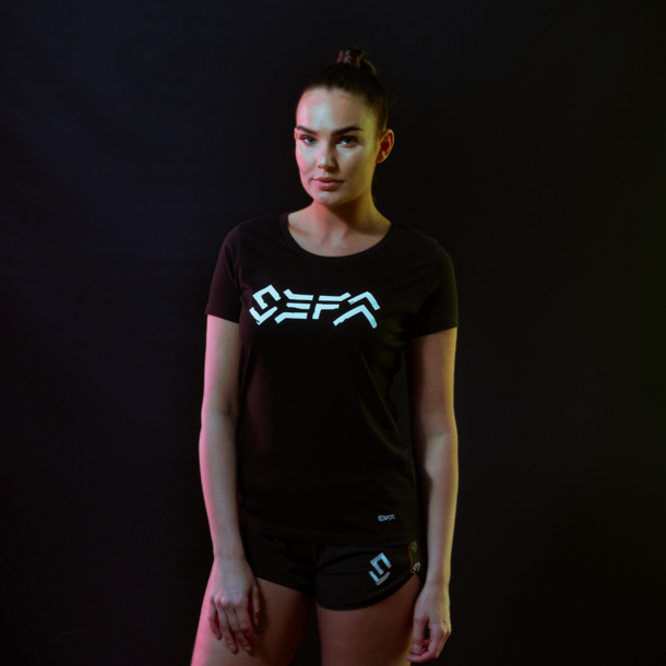 Sefa t-shirt black/white