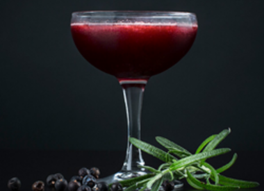 Blueberry Gin Martini