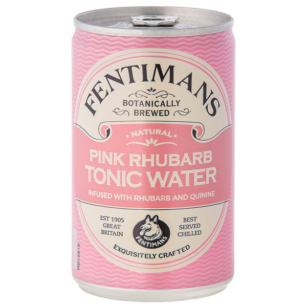 Fentimans Fentimans Pink Rhubarb Tonic Water Can 150ml