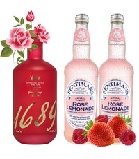 Gin 1689 1689 Pink Gin and Rose Pack 70cl & 2 x 500ml