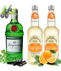 Tanqueray Tanqueray Gin en Fentimans Orange Tonic Pakket 70cl & 2 x 500ml