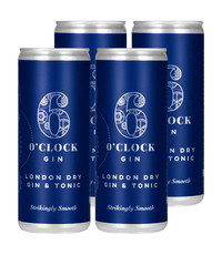 6 O'Clock 6 O'Clock Gin and Tonic 4x250ml